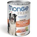 MongeFresh bocconi in paté con tacchino e ortaggi per cani senior