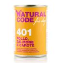 Natural Codefor dogs 401 (pollo salmone e carote)
