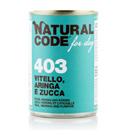Natural Codefor dogs 403 (vitello aringhe e zucca)