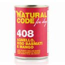 Natural Codefor dogs 408 (agnello riso basmati e mango)