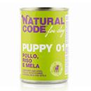 Natural Codefor dogs Puppy 01 (pollo riso e mela)