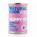 Natural Codefor dogs Puppy 02 (agnello riso e pera)