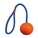 TrixiePalla in gomma naturale maniglia in corda blu