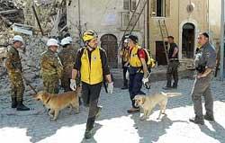 Le unità cinofile in Abruzzo